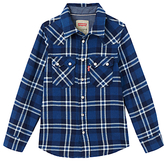 Levi's Boys' Long Sleeve Check Shirt, Blue