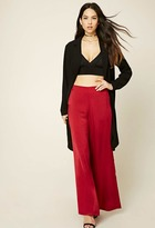 Forever 21 Wide-Leg Satin Pants