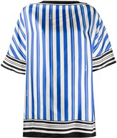 Loewe striped print silk scarf top