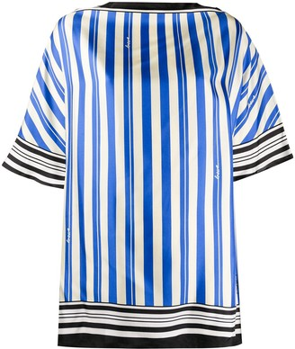 Loewe Striped Print Silk Scarf Top