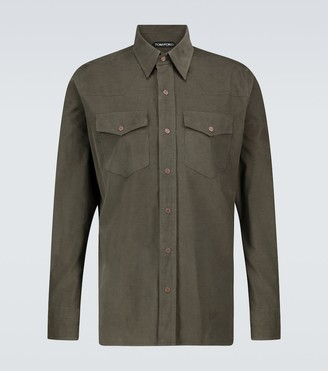 Tom Ford Western corduroy shirt