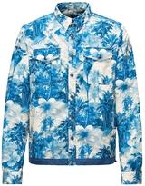 Moncler Hawaiian Printed Nylon Denim Jacket