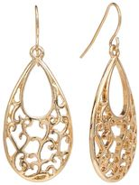Apt. 9 Gold Tone Filigree Teardrop Earrings