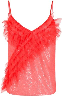 Gina Ruffle Front Camisole Top