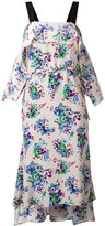 MSGM floral print pointed dress - women - Silk - 38