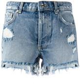 Liu Jo distressed ripped detail shorts