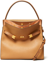 Tory Burch Lee Radziwill Double Crossbody Bag, Light Brown