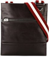 Bally striped strap messenger bag - men - Leather/Cotton - One Size