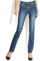 Curvy-Fit Straight-Leg Jeans, Mid Wash