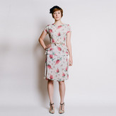{re}collect vintage '40s Floral Peplum Day Dress