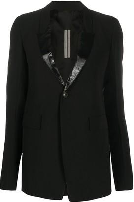 Rick Owens contrast panel deep V-neck blazer