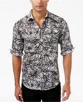 INC International Concepts Men's Cross-Hatch Roll-Tab Shirt, Only at Macy's