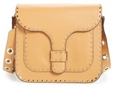Rebecca Minkoff Large Midnighter Leather Crossbody Bag - Beige