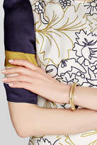 Alexis Bittar Lucite Bangle with Gold-Plated Embellishments