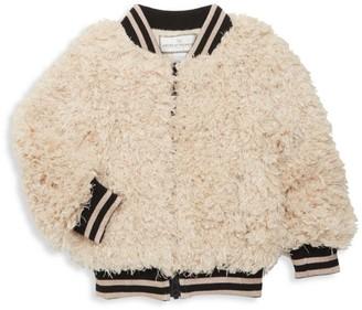 Widgeon Little Girl's & Girl's Faux-Fur Varsity Jacket