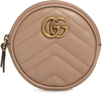 Gucci Marmont 2.0 Leather Coin Purse with Key Ring