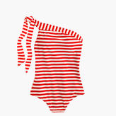 J.Crew One-shoulder one-piece swimsuit in classic stripe
