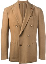 Lardini double breasted blazer - men - Polyester/Camel Hair - 48