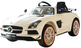 Licensed White Mercedes Benz AMG Ride On Racing Car