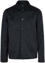 A.p.c. Carnac Navy Cotton Blend Jacket