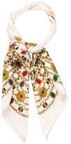 Chanel Jacquard Silk Scarf