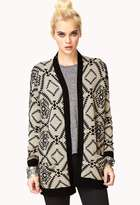 LOVE21 LOVE 21 Everyday Southwestern Pattern Cardigan