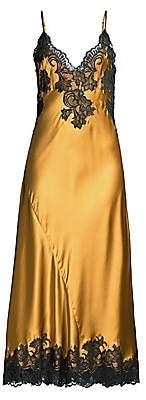Natori Women's Muse Lace-Trim Silk Maxi Slip Dress
