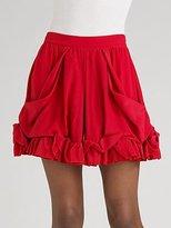 Sonia by Sonia Rykiel Ruffled Silk Mini Skirt