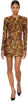 Balmain Sequined Mini Dress