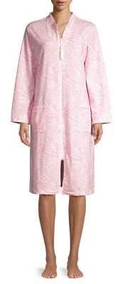 Miss Elaine Paisley-Print Cotton-Blend Robe
