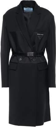 Prada Double-breasted Shell-paneled Wool-twill Coat