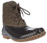 Jambu Jbu By Stefani Mid-calf Rain Boots, Army Green/brown.