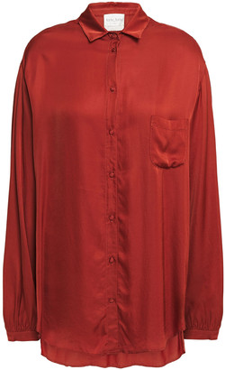 Forte Forte Gathered Washed-satin Shirt