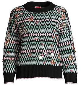 Kate Spade Women's Embellished Fair Isle Sweater