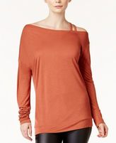 Bar III Strappy One-Shoulder Top, Created for Macy's