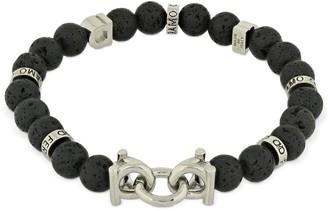 Salvatore Ferragamo 19cm Gancio & Lavica Beads Bracelet