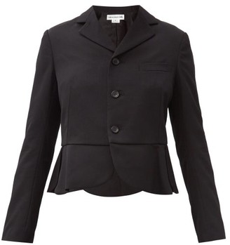 COMME DES GARÇONS GIRL Single-breasted Petal-peplum Wool Jacket - Black