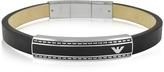 Emporio Armani Stainless Steel Signature Men's Bracelet