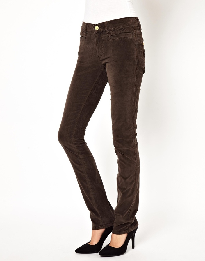 MiH Jeans The Oslo Jean In Chocolate Velvet - Brown