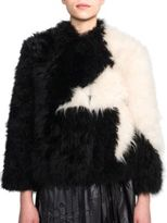 MSGM Star-Pattern Fur Jacket