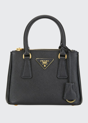 Prada Saffiano Mini Galleria Top Handle Bag