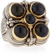 Konstantino Square Five-Stone Onyx Ring
