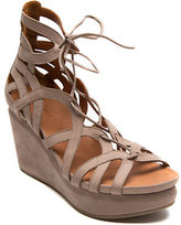 Gentle Souls Joy Nubuck Leather Platform Wedge Sandals