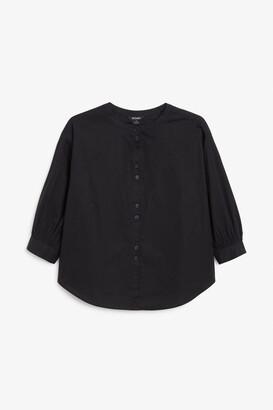 Monki Grandad collar shirt