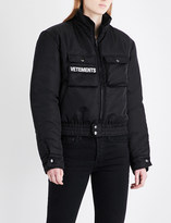 Vetements Police Woman reversible shell and wool-blend jacket