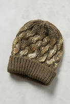 Anthropologie Glinted Cables Beanie