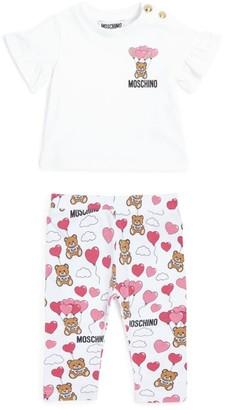 Moschino Kids Bear Logo T-Shirt and Leggings Set