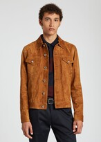 Thumbnail for your product : Paul Smith Men's Tan Suede Trucker Jacket