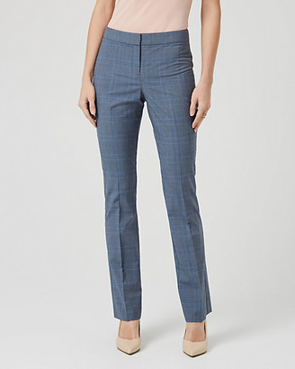 Le Château Glen Check Viscose Blend Flare Leg Trouser