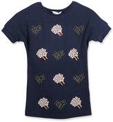 Little Marc Jacobs Dolman-Sleeve Popcorn T-Shirt Dress, Blue, Size 4-5